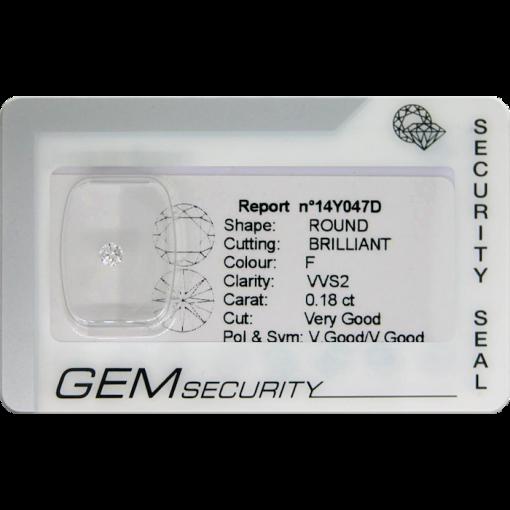 Diamante taglio brillante blisterato - 14Y047D