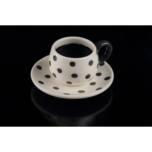 Tazzina a pois in ceramica