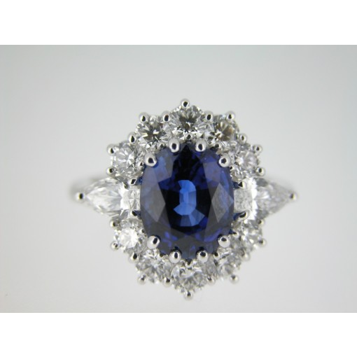 Anello Classico Zaffiro Blu