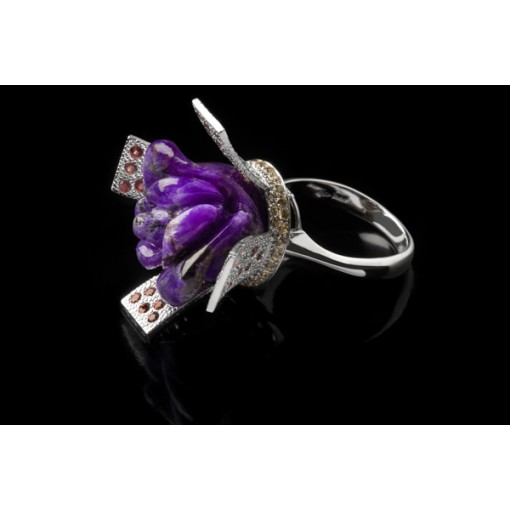 Anello Violet Queen con Zaffiri
