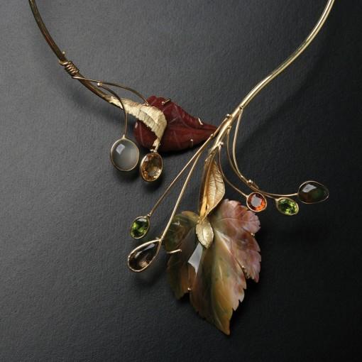 Collier Autunno in Oro e Pietre dure
