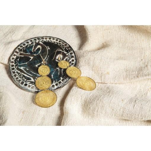 Orecchini Piceni in oro e merletto