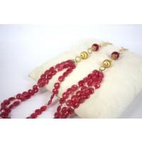 Collana in Argento con Agate e Perle