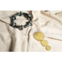 Collier Piceni in oro e merletto