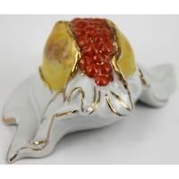 Fruttino melograno da collezione in porcellana