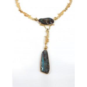 Girocollo in oro con opale australiano
