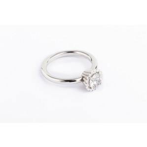 Anello Cupcake rotondo piccolo in argento e oro bianco con zirconia