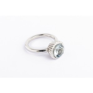 Anello Cupcake Linea Exclusive argento e acquamarina AN6-AGW-AM