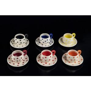 Tazzine a pois in ceramica