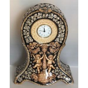 Orologio classico nero e oro