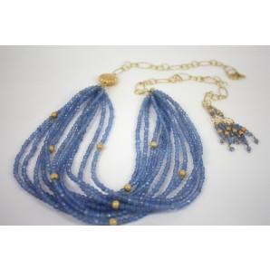 Collana in Argento con Agate Blu