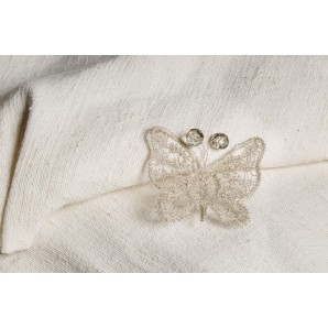 Farfalla in merletto argento