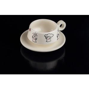 Tazzina con fantasmini in ceramica