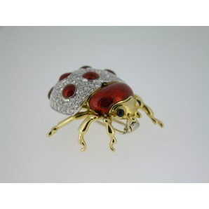 Spilla Animal Garden Coccinella in oro