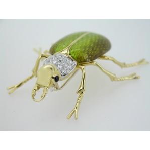Spilla Animal Garden Scarabeo in oro