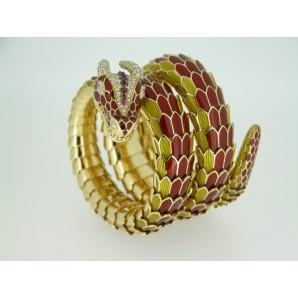 Bracciale Animal Mistique Dragon in oro e rubini