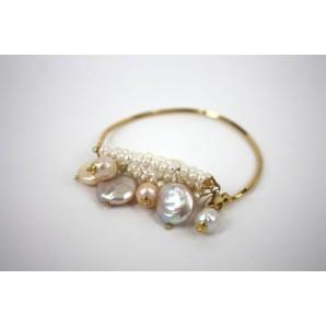 Bracciale in Argento con Perle Multicolor