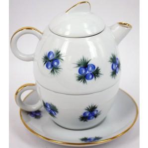 Teiera con tazza incorporata decorazione natalizia blu