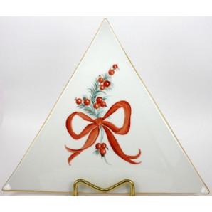 Vassoio triangolare decorazione natalizia