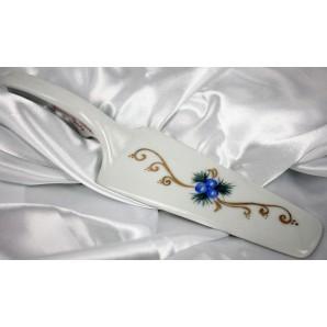 Paletta torta natalizia decorazione blu