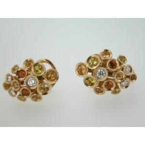 Orecchini Links Zaffiri e Diamanti