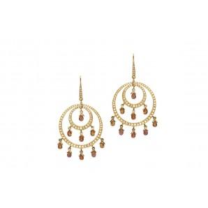 Orecchini in Oro con Zaffiri e Diamanti