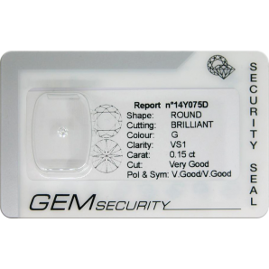 Brilliant cut diamond blister pack - 14Y075D