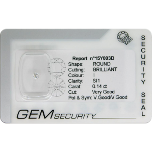 Brilliant cut diamond blister pack - 15Y003D