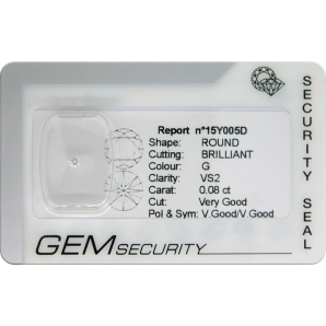 Brilliant cut diamond blister pack - 15Y005D