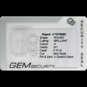 Brilliant cut diamond blister pack - 15Y006D / 15Y007D / 15Y008D