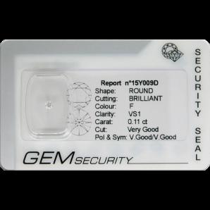 Brilliant cut diamond blister pack - 15Y009D / 15Y010D