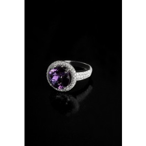 Ring Rondò with Amethyst and Diamonds