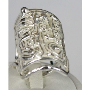 Embossed Silver Cleopatra Ring