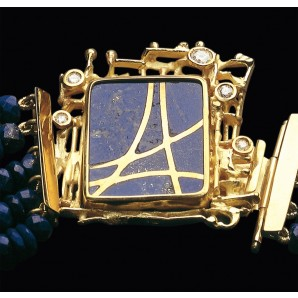 Collier Svincolo in Gold and Lapis lazuli