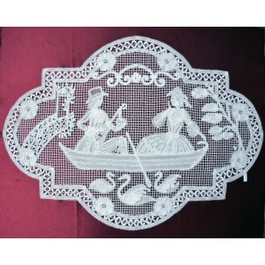 Pair of lovers bobbin lace