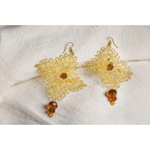 Van Gogh lace earrings