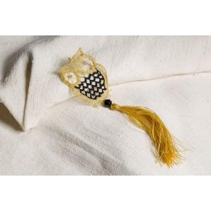 Lace owl gold and black bracelet