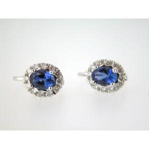 1211 Earrings Sapphire