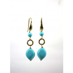 Earrings in Silver and Turquoise