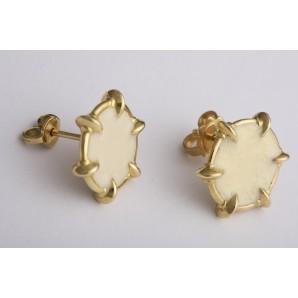 Earrings Picenum in gold and enamel