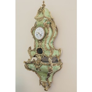 Marble Plaster Decorated Clock
