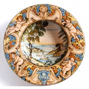 Plate with marine view