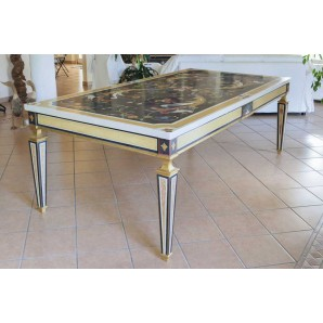 Marble Plaster Decorated Table